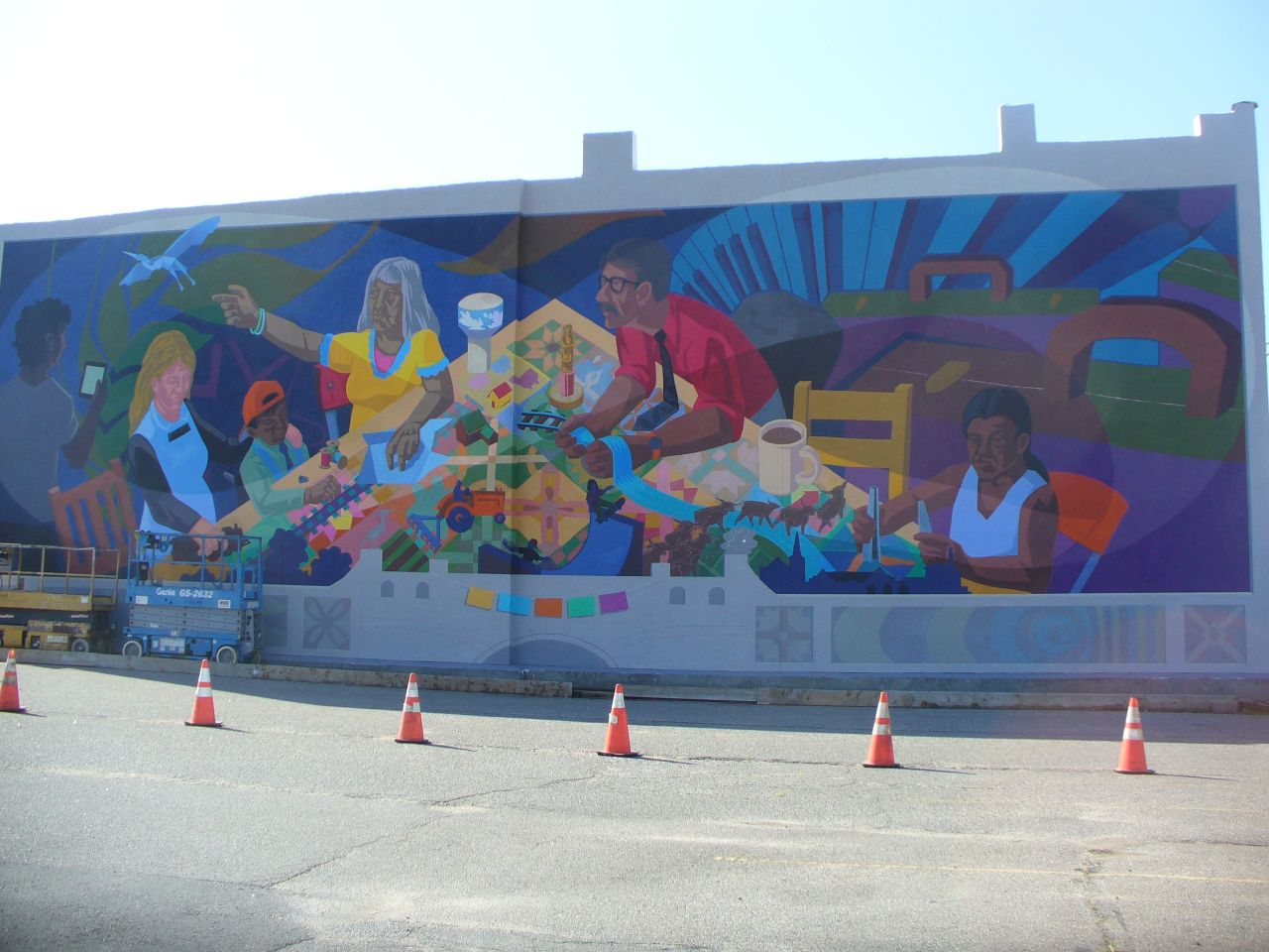 Artist profile erika nelson the feminist art project for Community mural project